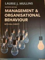 Boek cover Management and Organisational Behaviour 11th edn van Laurie Mullins