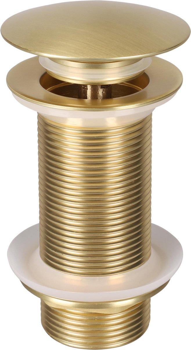 Differnz Mix & Match - afvoerplug - pop-up - design - large - goud