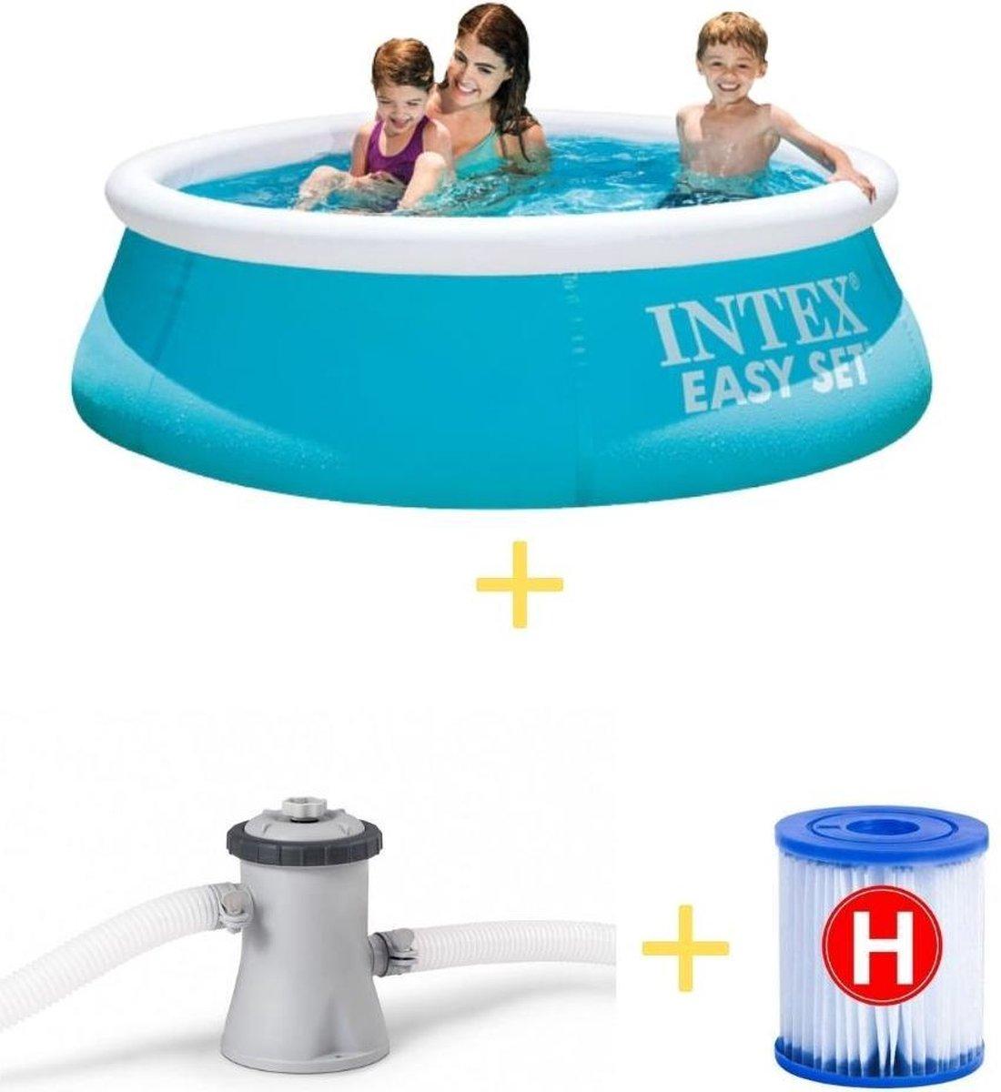 Intex Zwembad - Easy Set - 183 cm - Inclusief Filterpomp & Filter