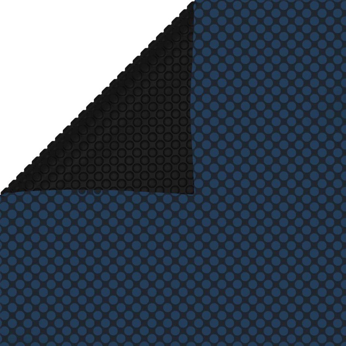 vidaXL Zwembadfolie solar drijvend 1000x600 cm PE zwart en blauw