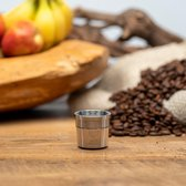 Herbruikbare - Hervulbare illy koffie capsule - Illy koffie cups - RVS