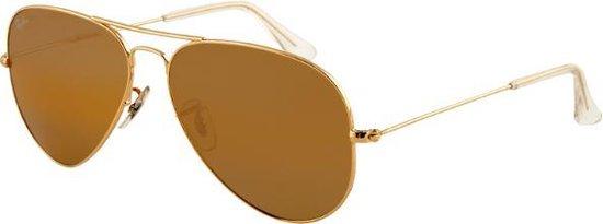Ray-Ban RB3025 001/51 - Aviator (Gradiënt) - zonnebril - Goud / Lichtbruin Gradiënt - 55mm