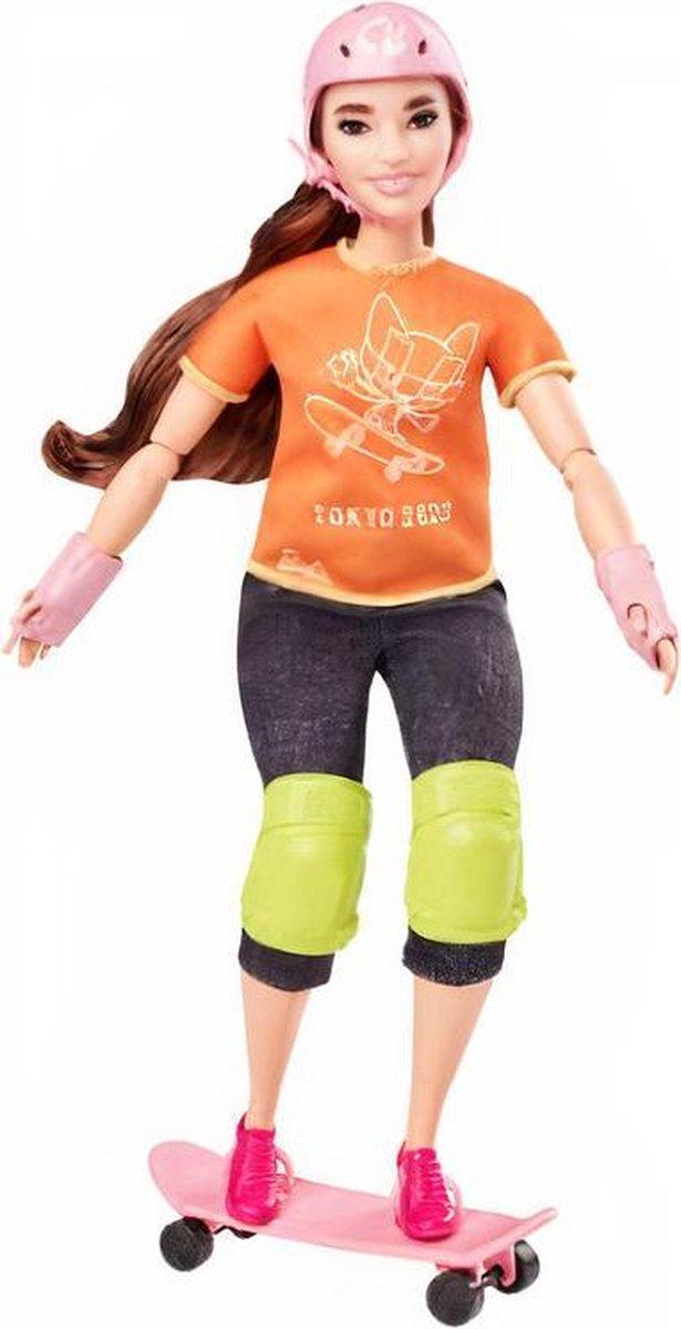 Barbie Tienerpop Skater Meisjes 32,5 Cm Bruin/oranje