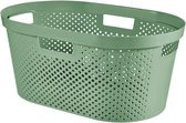 Curver Infinity wasmand dots 40L - 100% recycled zacht groen