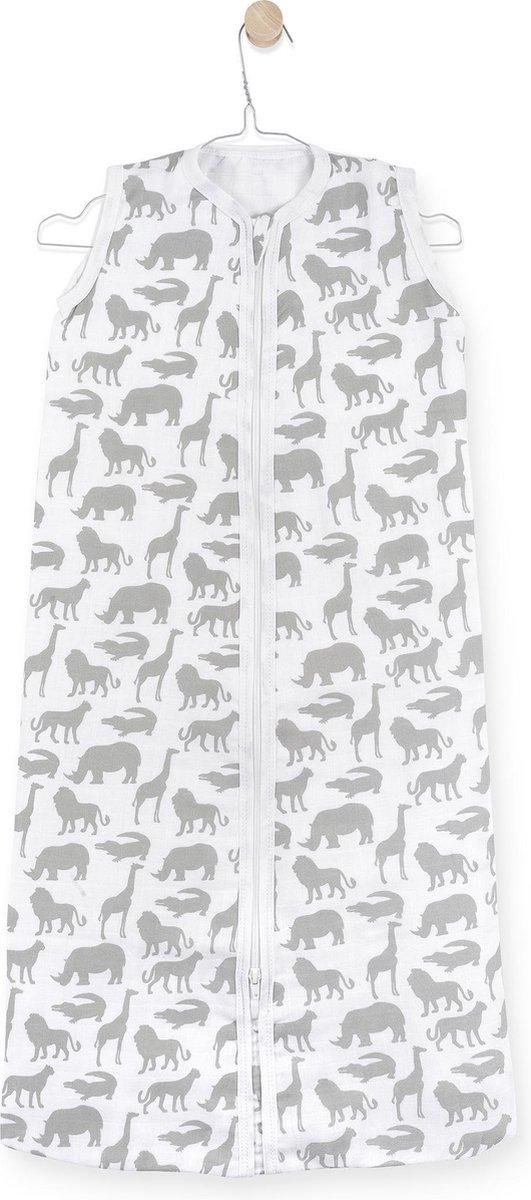 Jollein Safari Baby Slaapzak zomer - hydrofiel - 90cm - stone grey
