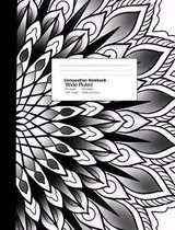 Wide Ruled Composition Notebook 7.44 X 9.59 Inches 100 Sheets / 200 Pages