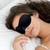 Premium zachte slaapmasker met comfortabele 3D vorm voor volledige verduistering (zwart)