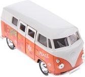 Welly Schaalmodel Volkswagen Bus Met Print Oranje