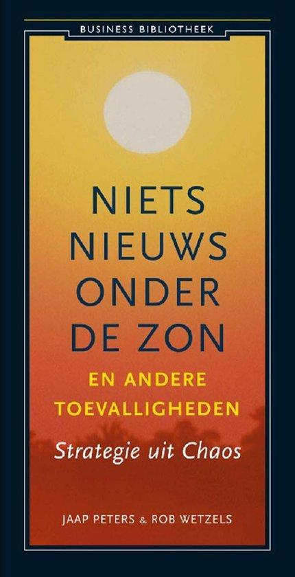 Boek cover Niets nieuws onder de zon en andere toevalligheden van Jaap Peters (Onbekend)