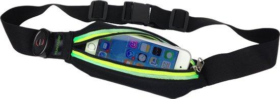 Tunturi Hardloopheuptas - Fitness belt - Runningbelt - Hardloopriem - Hardloopgordel - Hardloopverlichting - Hardloopriem - Hardloop belt - met LED verlichting Groen