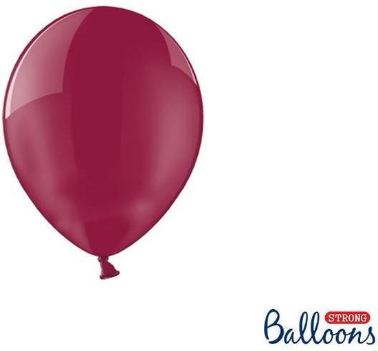 """""""""""""""Strong Ballonnen 12cm, Crystal Maroon (1 zakje met 100 stuks)"""""""""""""""