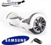 The Scootershop - 700 Watt Hoverboard met afstandsbediening- LED - taotao - 20cell Samsung - Wit
