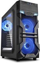 Sharkoon VG7-W Blue Midi ATX Tower Zwart