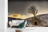Fotobehang vinyl - Zonsondergang bij het Engelse Nationaal park Yorkshire Dales breedte 540 cm x hoogte 360 cm - Foto print op behang (in 7 formaten beschikbaar)