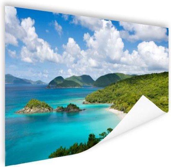 Caribische eilanden en stranden Poster 150x75 cm - Foto print op Poster (wanddecoratie woonkamer / slaapkamer)
