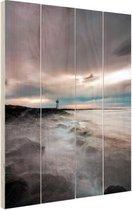 Port Fairy Australie foto Hout 60x80 cm - Foto print op Hout (Wanddecoratie)