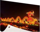 Chinese lantaarndraak Tuinposter 200x100 cm - Foto op Tuinposter / Schilderijen voor buiten (tuin decoratie)