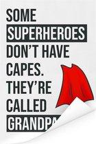 Cadeau voor opa met tekst - Superheroes Poster 40x60 cm