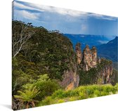 Uitzicht over Nationaal park Blue Mountains in Australië Canvas 180x120 cm - Foto print op Canvas schilderij (Wanddecoratie woonkamer / slaapkamer) XXL / Groot formaat!