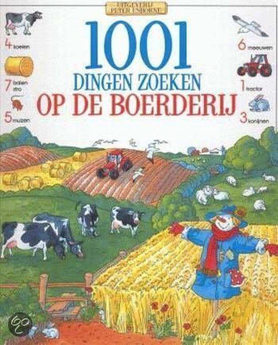 Cover van het boek '1001 dingen zoeken op de boerderij' van Gillian Doherty