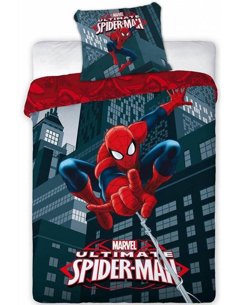 Spider-Man Showtime - Dekbedovertrek - Eenpersoons - 140 x 200 cm - Multi - Worlds Apart - Spider-Man