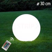 LED Bol 30CM - Decoratie Lamp met Afstandsbediening - Oplaadbaar Waterdicht - LED - RGB Kleuren