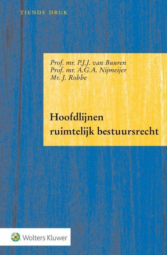 Boek cover Hoofdlijnen ruimtelijk bestuursrecht van P.J.J. van Buuren (Paperback)
