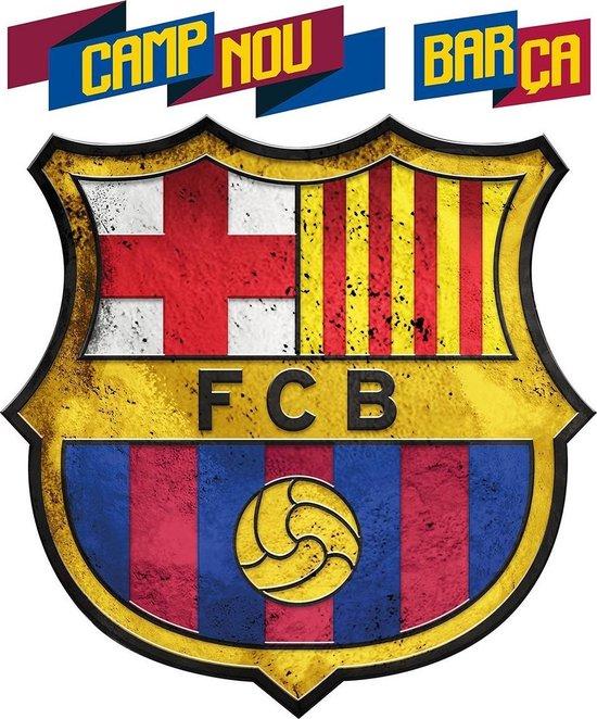 Bol Com Fc Barcelona Logo Muursticker 45 X 54 Cm Multi