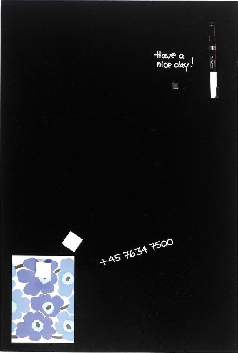 NAGA Glassboard zwart 40x60cm
