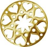 LOCKits 982500685 - Stalen munt - fantasie harten bloem - 25-1 mm - goudkleurig
