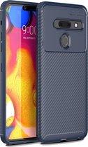 Mobigear Carbon Fiber Shockproof Hoesje Blauw LG G8 ThinQ