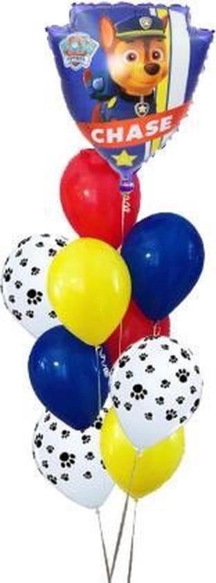 Paw Patrol |Versiering Verjaardag | Ballonnen Set | 10 stuks | Chase & Marshall.