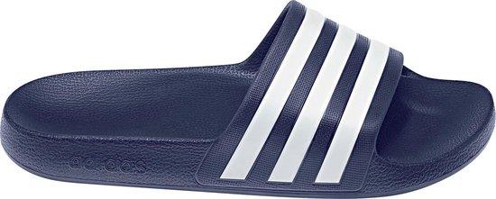 adidas Adilette Aqua Heren Slippers - Dark Blue/Ftwr White/Dark Blue - Maat 46