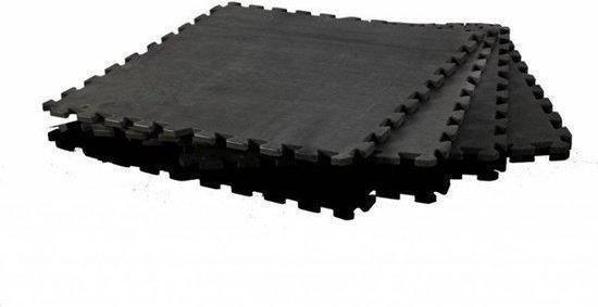 Focus Fitness Floor Guards / Puzzelmat - 120 x 120 cm - Zwart