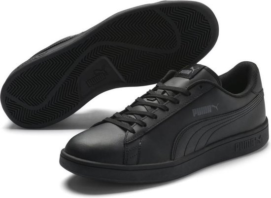 PUMA Smash V2 L Sneakers Unisex - Puma Black / Puma Black - Maat 46