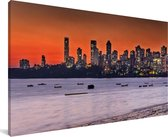 Panorama van Bombay Canvas 160x80 cm - Foto print op Canvas schilderij (Wanddecoratie woonkamer / slaapkamer)
