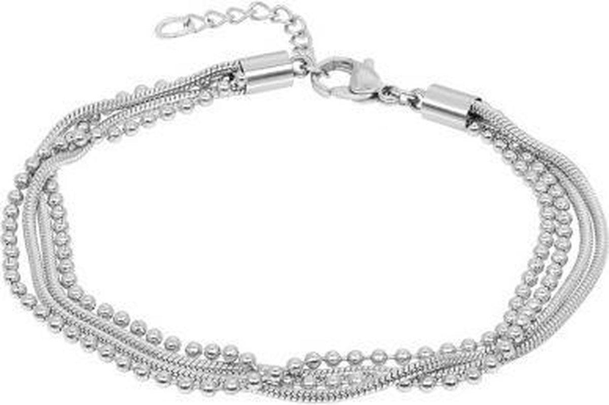 iXXXi Jewelry Enkelbandje Snake Ball Slim zilverkleurig 23-27cm - iXXXi JEWELRY