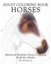 Adult Coloring Book Horses