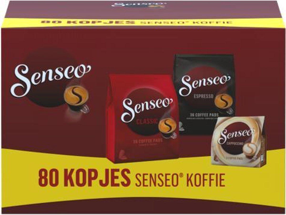 Senseo Koffiepads Variatiepakket - Classic, Espresso en Cappuccino - voor in je Senseo® machine - pr