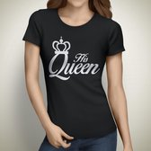 His Queen Tshirt | Zwart | Medium