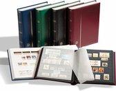Luxe insteekalbum postzegels Comfort S 64 zwarte bladzijden - blauwe kaft