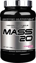 Scitec Nutrition - Mass 20 - High-protein muscle mass gainer - Strawberry - Aardbei - 1750 g - 50 porties