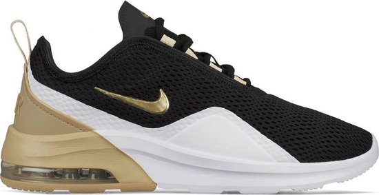 Nike Air Max Motion 2 sneakers dames zwart/wit/goud