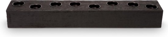 Vtwonen Candle Block Rectangular Reversable Wood Black 60x10x8cm
