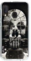 Samsung Galaxy A20e hoesje Room Skull BW Casetastic Smartphone Hoesje softcover case