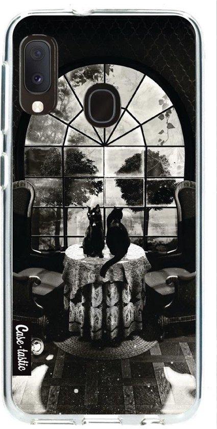 Samsung Galaxy A20e hoesje Room Skull BW Casetastic Smartphone Hoesje softcover case