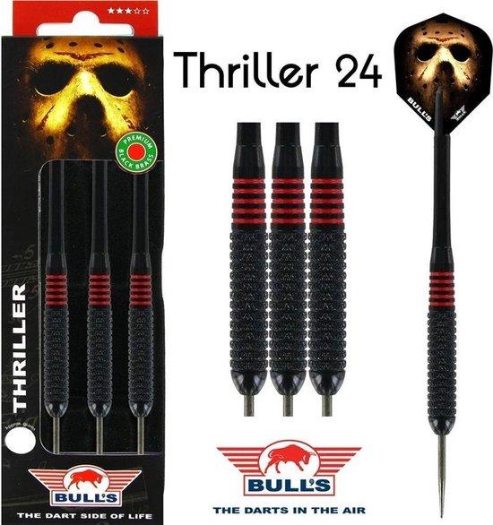 Afbeelding van het spel BULL'S Thriller Black Brass dartpijlen - 24 gram