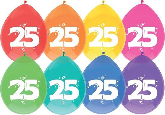 Ballonnen 25 jaar pak a 6 stuks