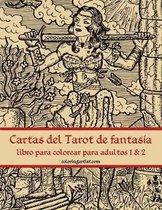 Cartas del Tarot de fantasia libro para colorear para adultos 1 & 2