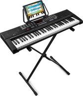 Keyboard - MAX KB2 keyboard piano met 61 toetsen, USB mp3 speler / recorder, trainingsfunctie en keyboardstandaard - De ideale set om (opnieuw) te beginnen!